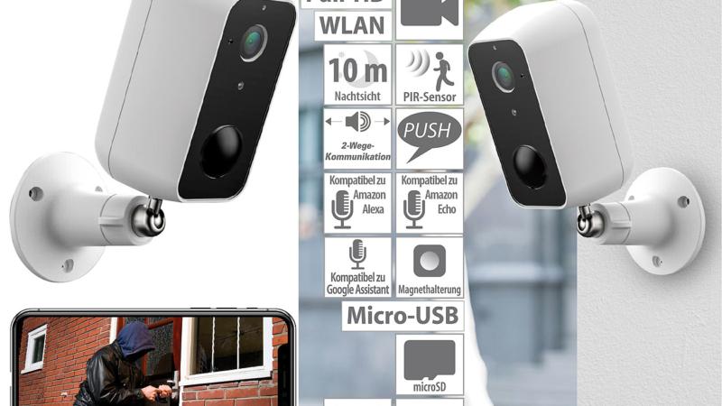 VisorTech Outdoor-IP-Überwachungskamera IPC-670