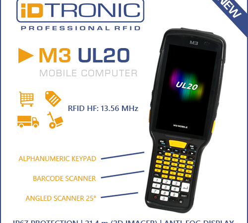 Mobile Computer M3 UL20 with 2D Barcode and RFID Reader