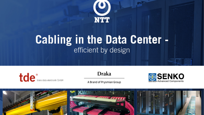 Ready for the terabit age: tde, Senko and Prysmian Group are inviting to the NTT Webcast