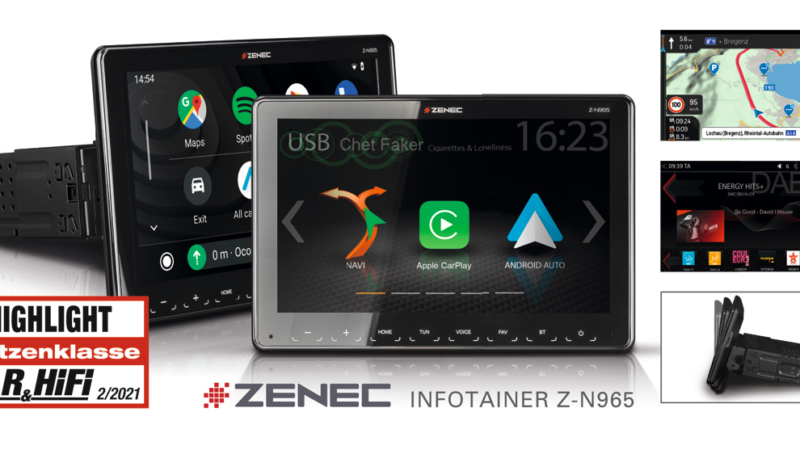 "Great Multimedia Car Radio: ZENEC""S 1-DIN System Z-N965"