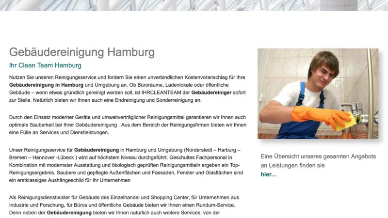 Ihr Clean Team – 20 Jahre professionelle Gebäudereinigung in Hamburg und Umgebung