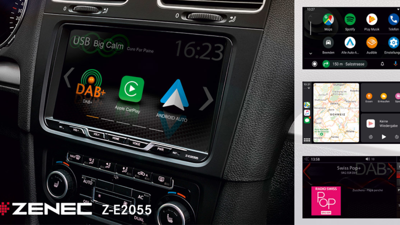 Großbild Infotainer für VW, Seat, SKODA – ZENECs Z-E2055