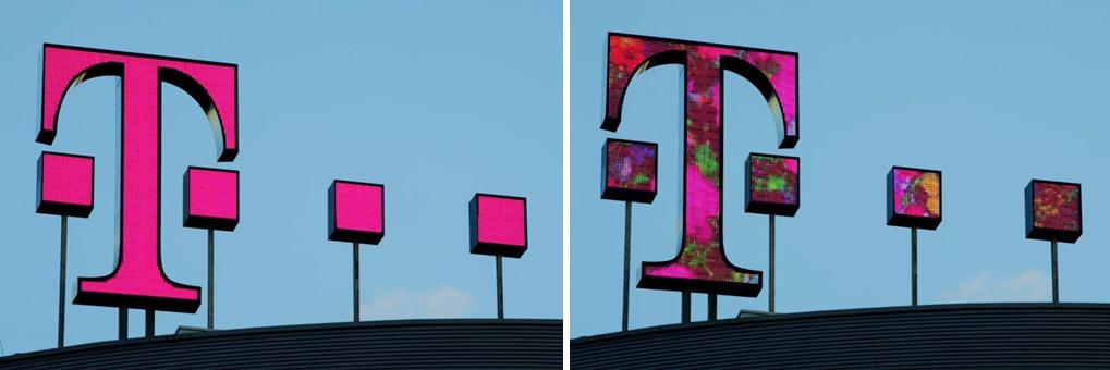 LightnTec macht Telekom-Logo dynamisch