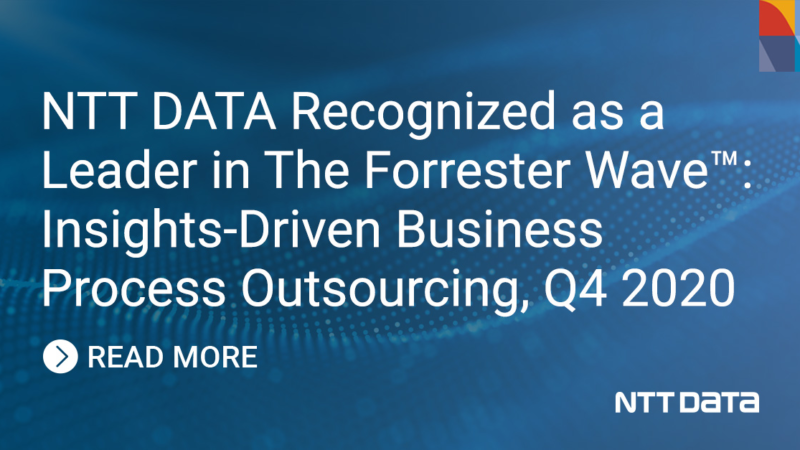 Forrester zeichnet NTT DATA als Leader bei Insights-Driven Business Process Outsourcing aus
