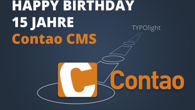 Rückblick auf 15 Jahre Contao Open Source CMS von Thomas Weitzel.