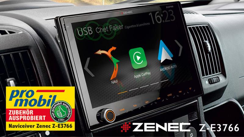 Daumen hoch von Promobil für ZENECs Z-E3766 Fiat-Navi