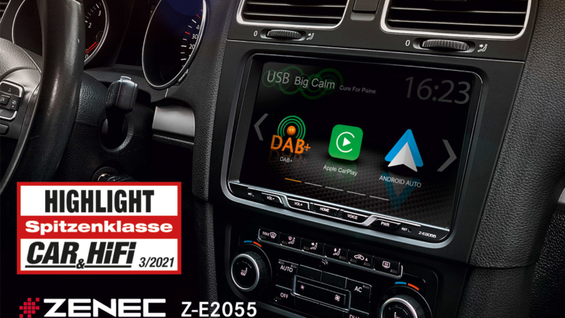 Highlight – ZENECs Z-E2055 Infotainer für VW Golf V / VI