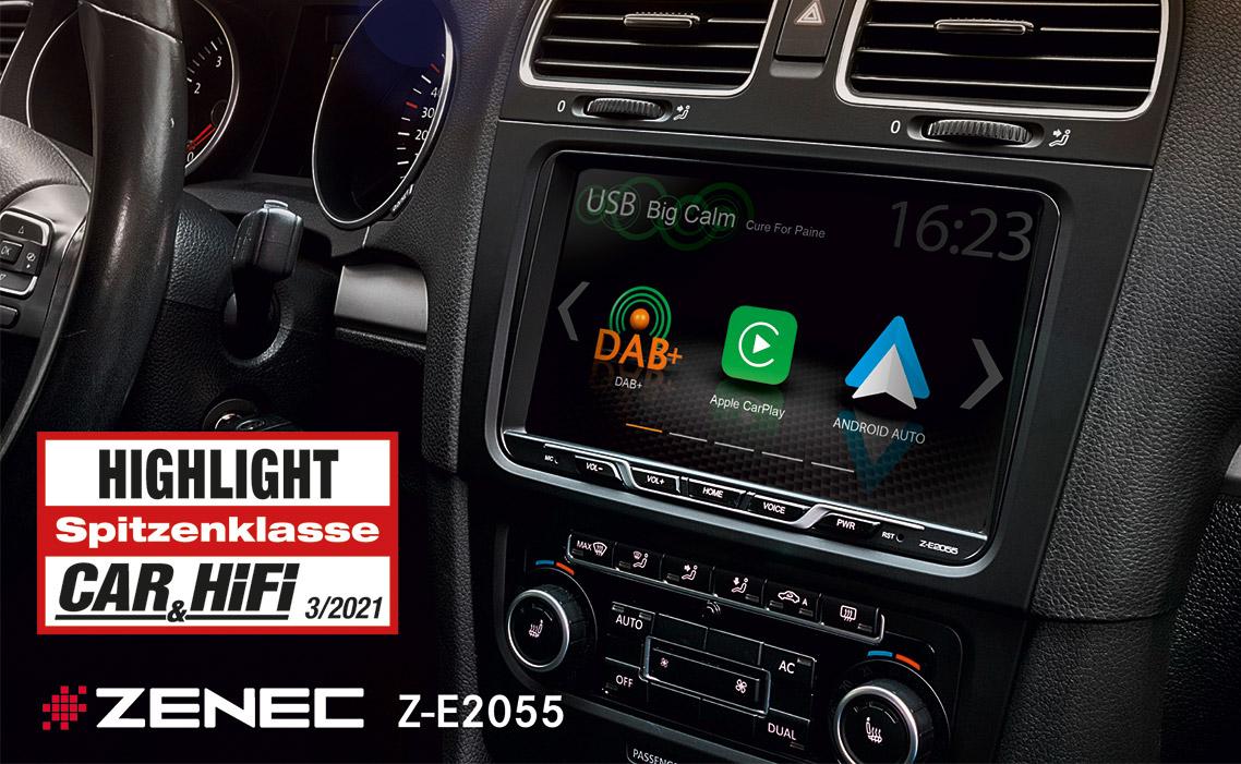 Highlight – ZENECs Z-E2055 Infotainer für VW Golf V / VI