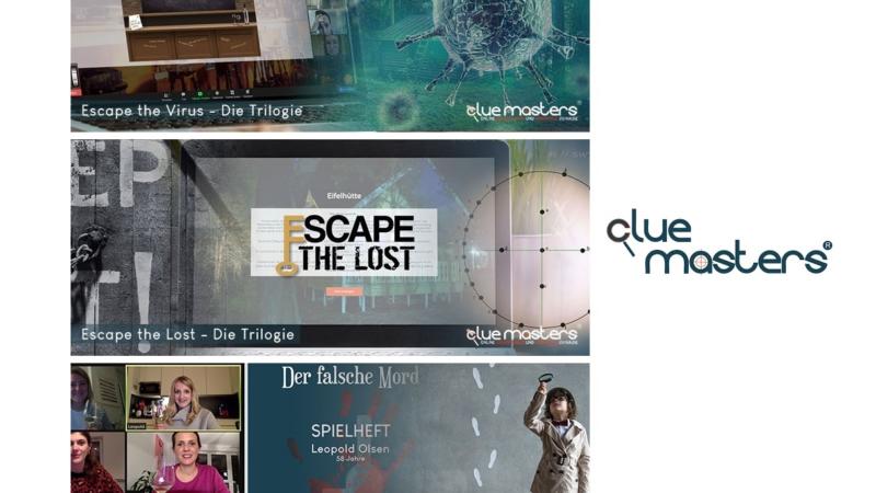 Online Erlebnisse von Cluemasters – mit Abstand zusammenwachsen