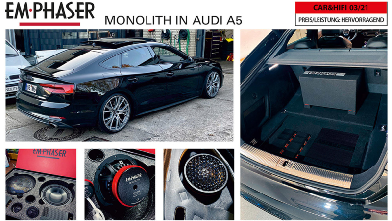 Real Hit: EMPHASER Car Audio Installed in AUDI A5