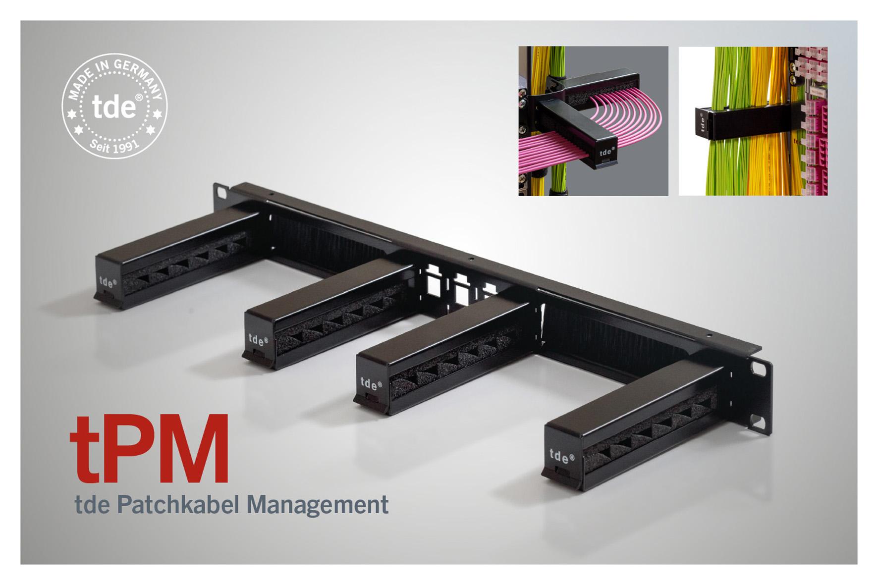tPM von tde ab sofort mit integrierten Kabeldurchführungen und vertikalen Trägerplatten