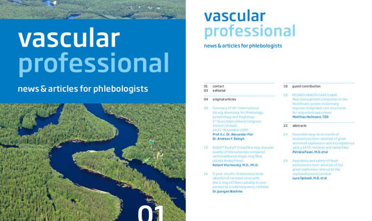 Neu: vascular professional – Die digitale Fachzeitschrift für innovative Therapien in der Phlebologie