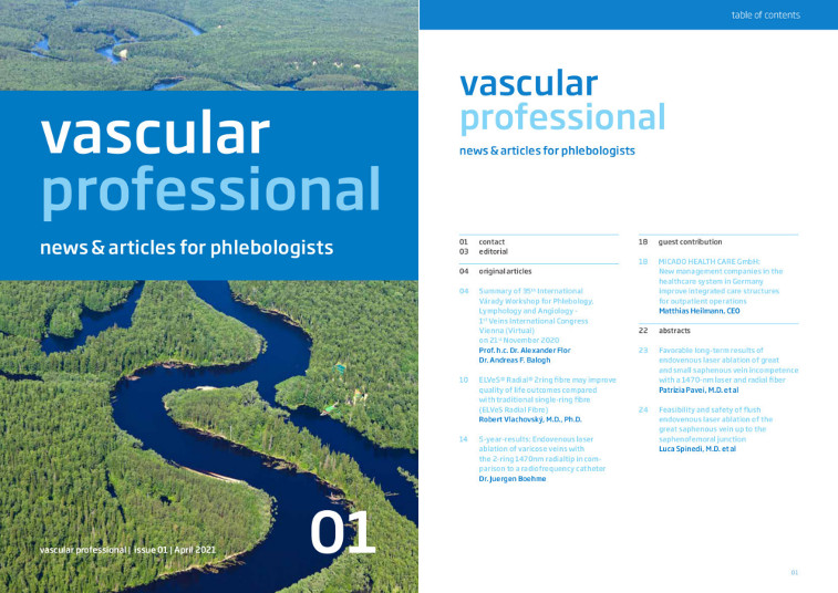 New: vascular professional – The digital journal for innovative therapies in phlebology