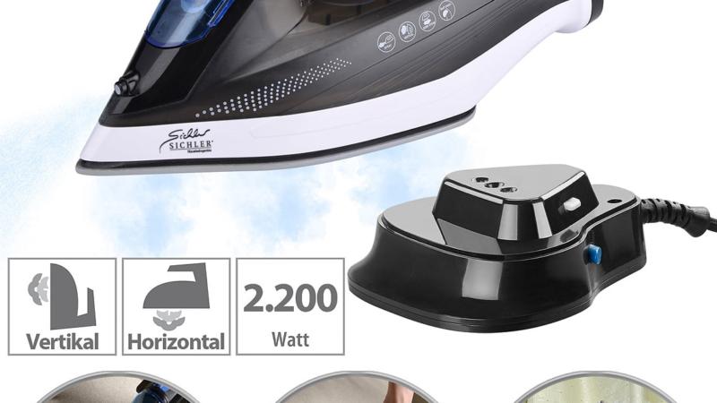 Sichler Haushaltsgeräte Kabelloses 2in1-Dampfbügeleisen