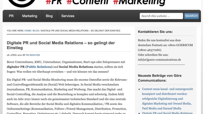 Digitale PR und Social Media Relations – so gelingt der Einstieg