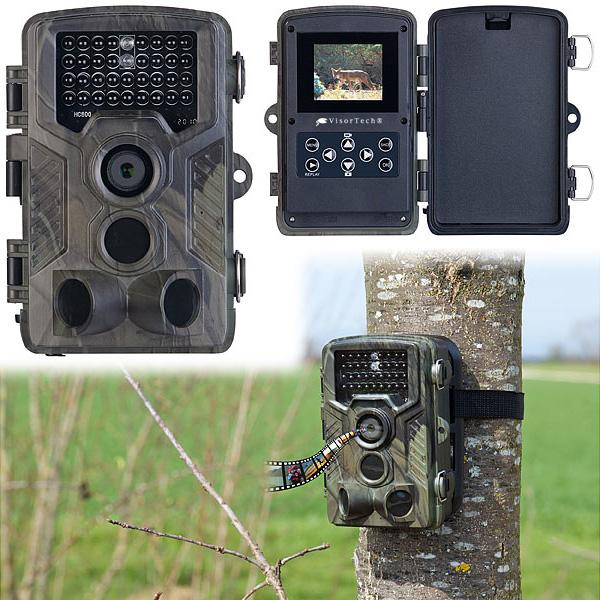VisorTech Full-HD-Wildkamera WK-610 mit 3 PIR-Sensoren