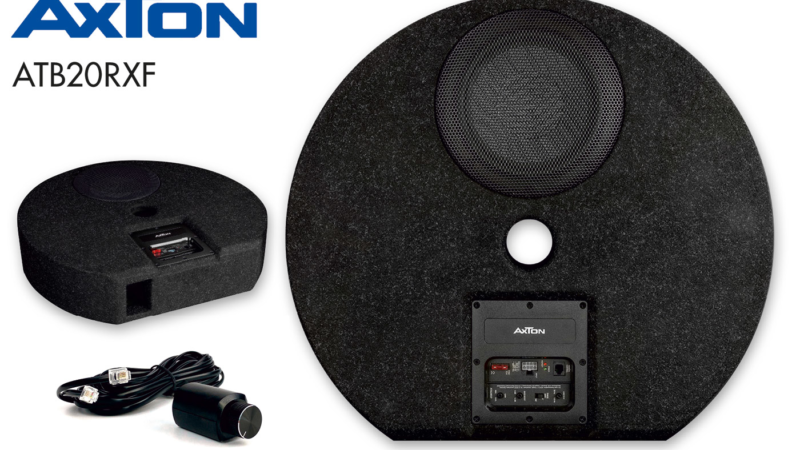 Bass out of the spare wheel well: AXTON active subwoofer ATB20RXF