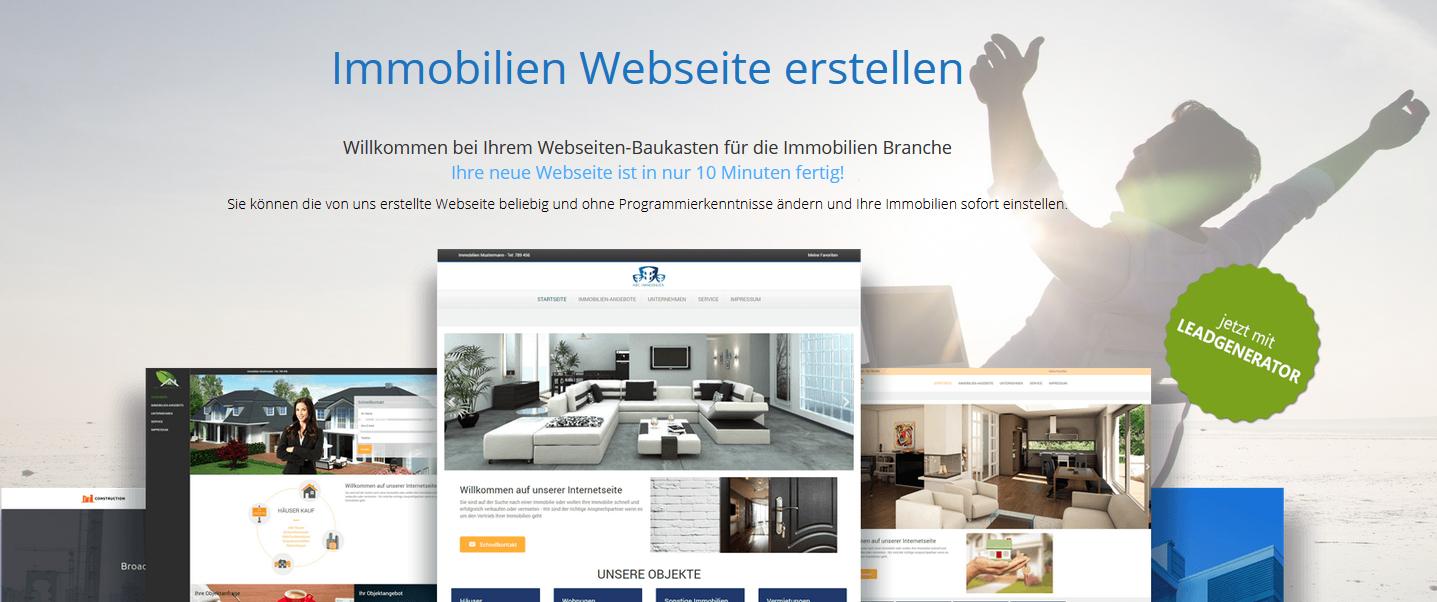 ImmobilienMakler-Webseite in 10 Minuten erstellen.
