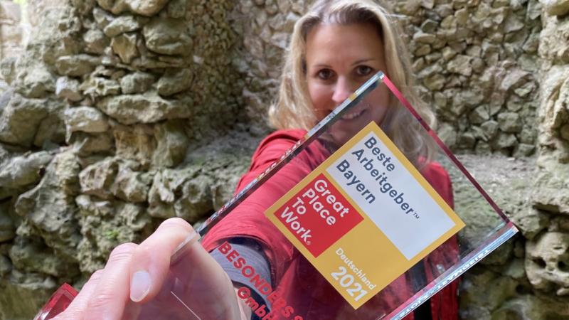 Werbeagentur BESONDERS SEIN GmbH erstmalig als einer der besten Arbeitgeber Bayerns ausgezeichnet