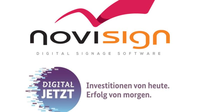 NoviSign Digital Signage Lösungen – staatliche Fördermittel möglich