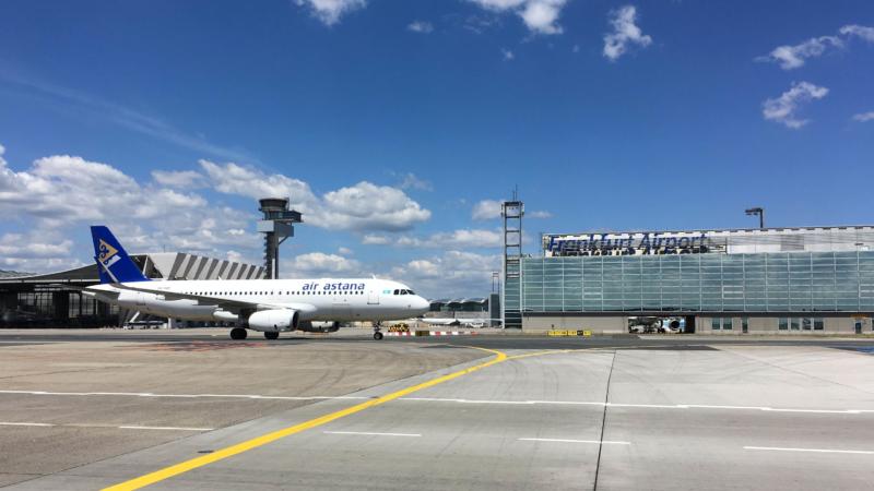 Air Astana startet ab Juni wieder vom Terminal 2 am Flughafen Frankfurt