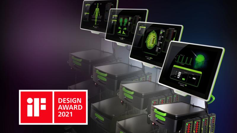 """iF DESIGN AWARD 2021"" – Neuromonitor AVALANCHE® PLUS"