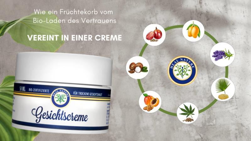 Heal Nature Gesichtscreme – vegane, 100 % klimaneutrale Pflege in Bioqualität!