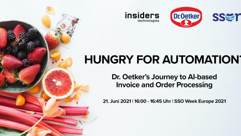 Insiders Technologies und Dr. Oetker machen Appetit auf Automatisierung