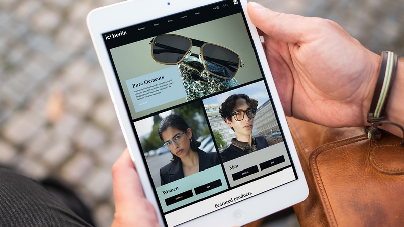 Brillenmode: Interlutions baut ic! berlin einen modernen Online-Laufsteg