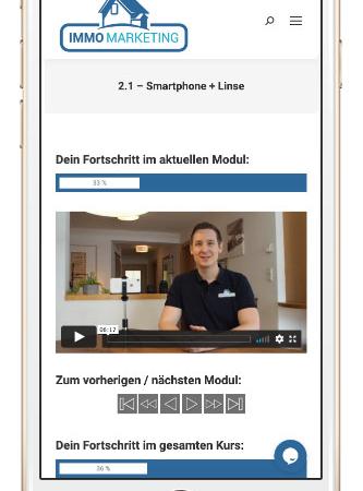 Der Immobilien-Video Online-Kurs