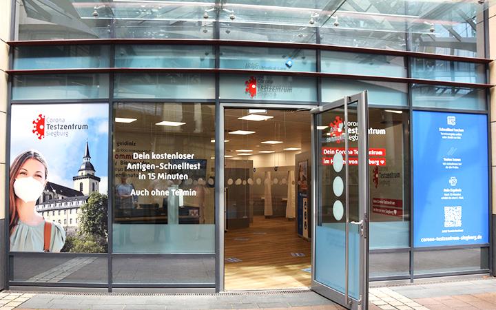 Corona Testzentrum Siegburg am 12. Juli 2021 eröffnet