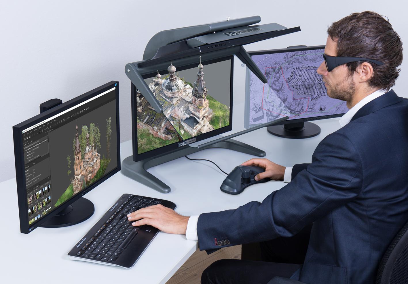 Agisoft Metashape Pro und 3D PluraView ermöglichen 3D-Stereo Photogrammetrie auf höchstem Niveau