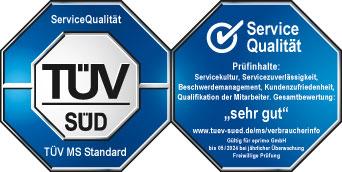 eprimo erhält 13. TÜV-Zertifizierung in Folge