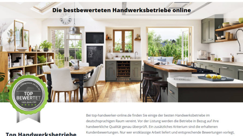 Das neue Portal: Top-Handwerker-Online