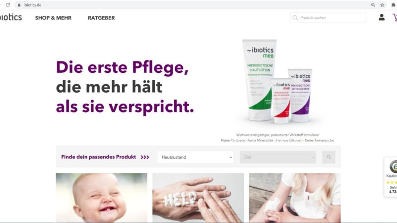Medizinische Hautpflege: Neuer Web-Shop mit Online Ratgeber