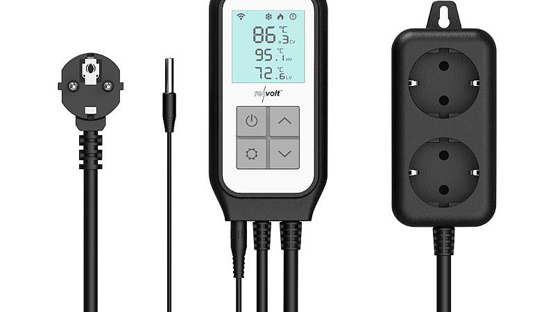 revolt WLAN-Steckdosen-Thermostat für 2 Geräte