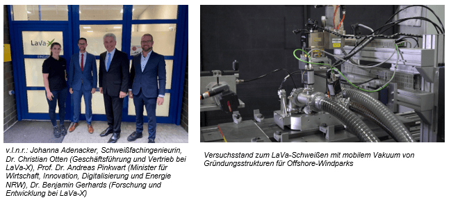 Wirtschaftsminister Dr. Andreas Pinkwart zu Besuch bei LaVa-X