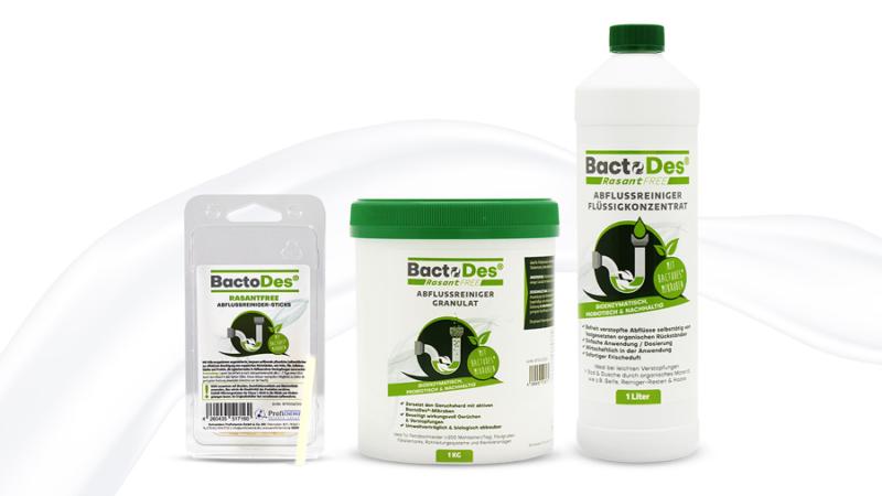 Nachhaltige BactoDes® RasantFree-Linie löst chemischen Abflussreiniger ab