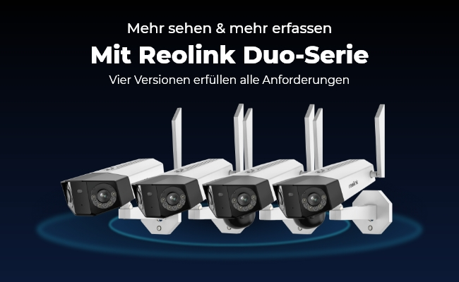 Reolink Duo-Serie ist endlich mit 15% Rabatt & Gratisgeschenk da! Smartes 2K Dual-Objektiv zum doppelten Schutz