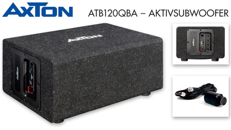 Pegelfest und dynamisch – AXTONs Aktivsubwoofer ATB120QBA