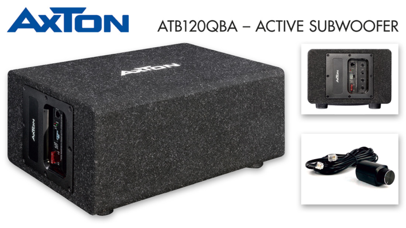 "Rich Bass – AXTON""s Active Subwoofer ATB120QBA"