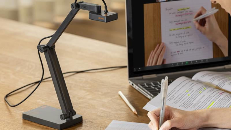 """IPEVO führt neue USB-Dokumentenkamera """"V4K PRO"""" mit KI-gestützter Geräuschreduzierungstechnologie ein"""