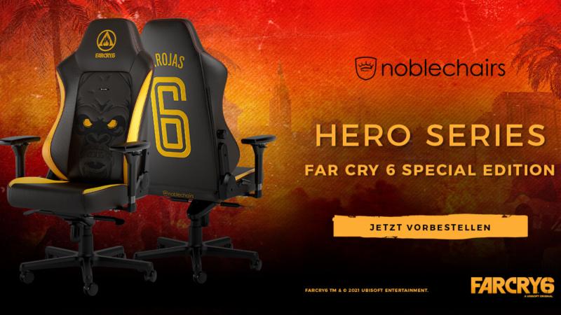 noblechairs HERO Far Cry 6 Special Edition – Dein Rückhalt im Guerillakrieg