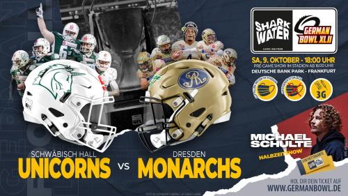 Wer gewinnt den German Bowl – Unicorns oder Monarchs ?